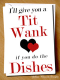 I'll Give You A Tit Wank If You Do The Dishes
