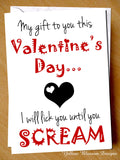 Naughty Valentines Card Her Wife Partner Girlfriend Lover Cheeky Joke Rude Funny