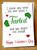 Funny Valentine's Day Card Farted Greetings Him Her Wife Hubsand Couple Partner Boyfriend Girlfriend Joke Cheeky Adult Fun …