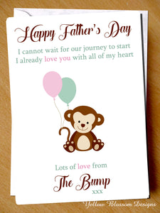 Love From Baby Bump Father's Day Card