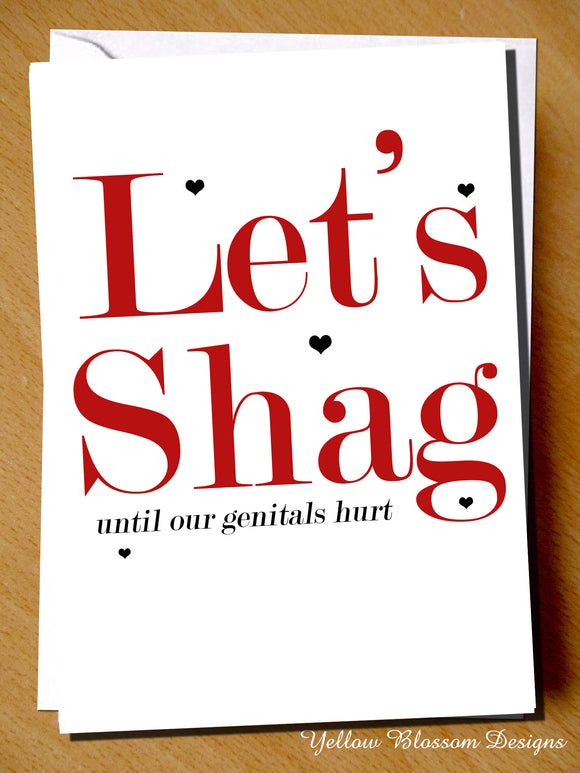 Let's Shag Until Our Genitals Hurt