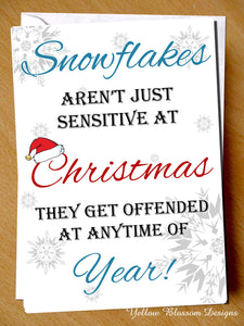 Funny Christmas Card Snowflake Generation Daughter Sister Friend Son Brother Fun 2000 Millennials