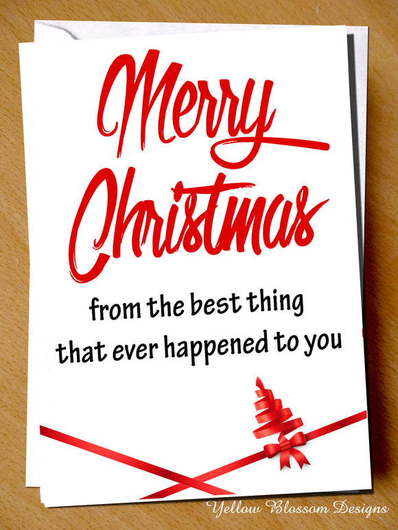 Husband Joke Christmas Card From The Wife