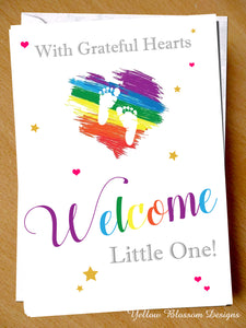 Grateful Hearts Premature Baby Greetings Card Preemie NICU New Born Miracle Support SCBU Love
