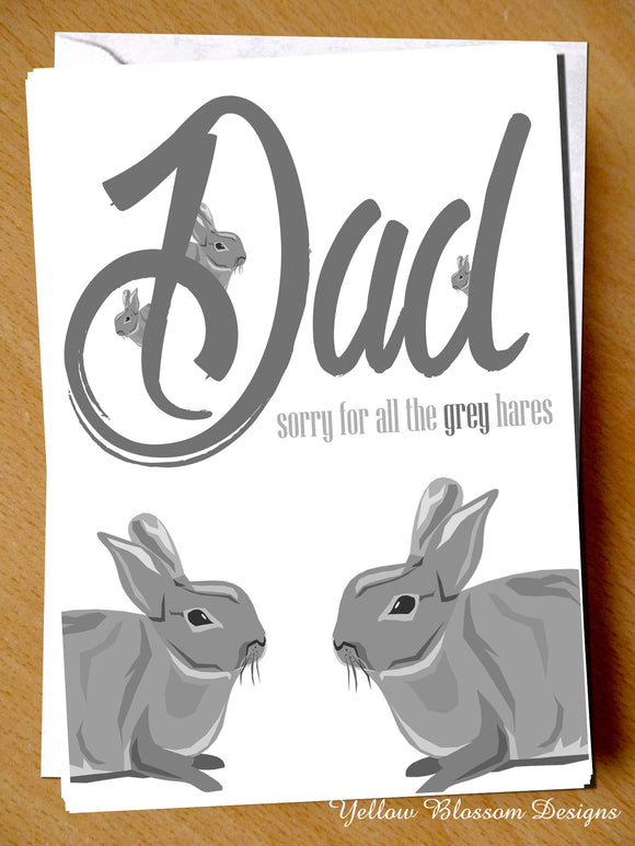 Dad Sorry For All The Grey Hares