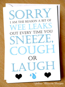 Sorry I Am The Reason Wee Leaks Out Every Time You Sneeze, Cough Or Laugh