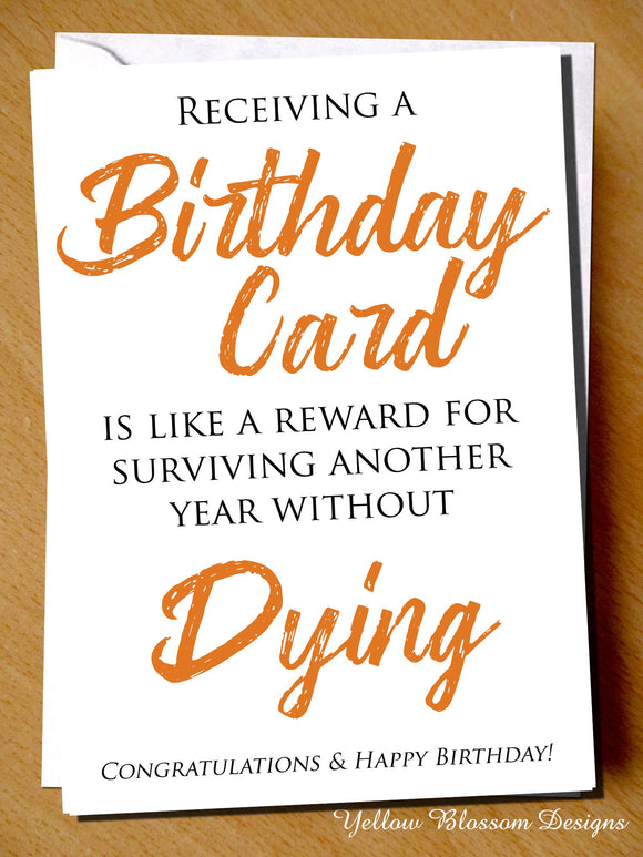 Funny Birthday Card Gym Weight Lift Fitness Exercise Workout