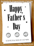 Hapy Father's Day Scratch Card