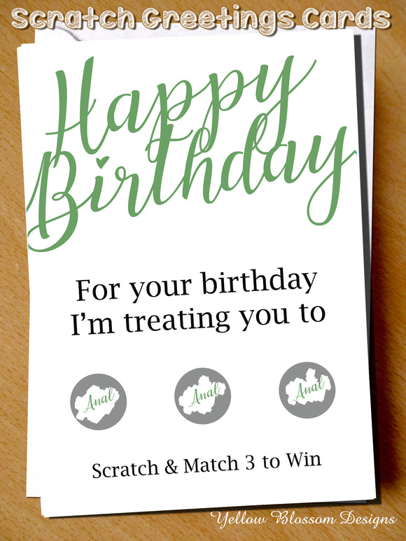 Birthday Anal Gift Card