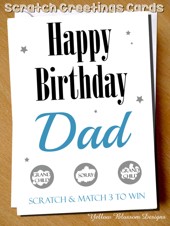 Pregnancy Announcement Scratch Card Father's Day ~  Grandchild ~ Funny Joke Version Available