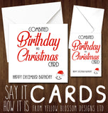 Combined Birthday & Christmas Card Happy December Birthday