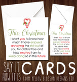Loved Annoying You All Year ~ Couple Love Comical Christmas Card
