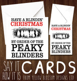 Funny Blindin' Christmas Card Dad Husband Boyfriend Brother Mum
