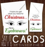 I Hope You Get What You Need For Christmas.. Nice Eyebrows!
