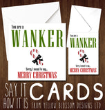 Rude Insulting Christmas Card ~ You Are A Cunt Arsehole Wanker Bellend Dick Bastard Twat Knob