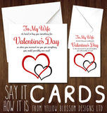 Cute Valentine's Day Greeting Card For My Wife Love Funny Joke Gift