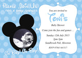 Baby Shower Invitations Boy Girl Unisex Twins Joint Party - Minnie Mouse Mickey Mouse ~ QUANTITY DISCOUNT AVAILABLE - YellowBlossomDesignsLtd