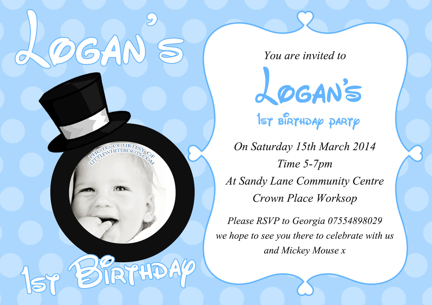 Our Little Prince Princess Blue Pink Invitations - Boy Girl Joint ...