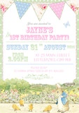 Peter Rabbit Beatrix Potter Party Invitations - Boys Girls Joint Birthday Party Invites Twins Unisex Printed ~ QUANTITY DISCOUNT AVAILABLE