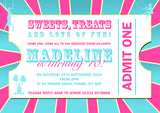 Circus Admit One Ticket Invitations - Children's Kids Child Birthday Invites Joint Party Unisex Printed ~ QUANTITY DISCOUNT AVAILABLE - YellowBlossomDesignsLtd