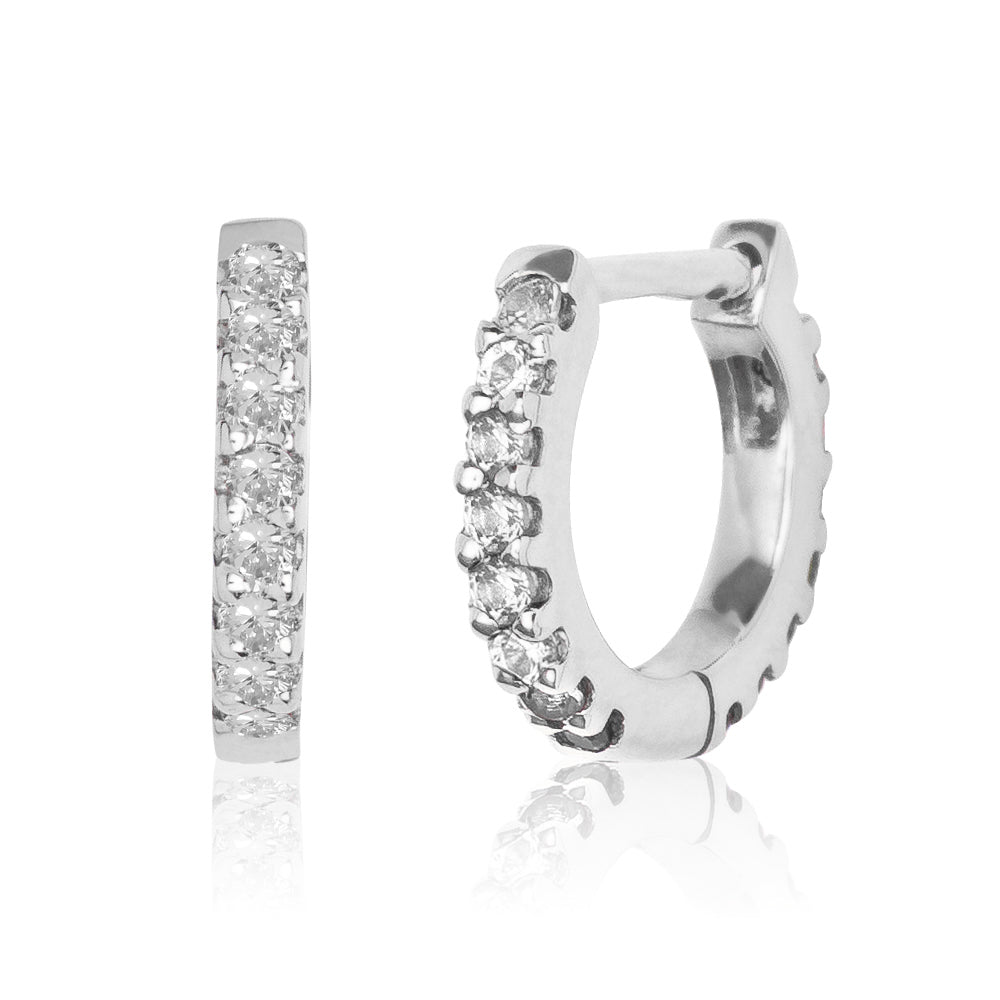 Diamond Eternity Huggie White Gold S