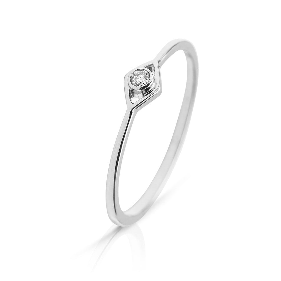 Lajoux Eye Diamond Ring White Gold