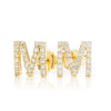 Lajoux Personalized Initial Diamond Earring Yellow Gold