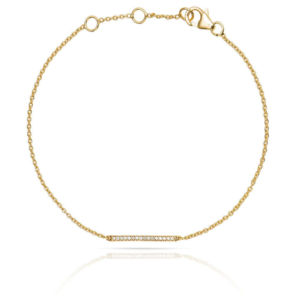 Lajoux Diamond Bar Bracelet Yellow Gold