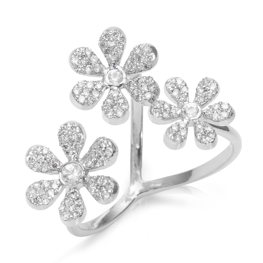 Camelia Diamond Ring White Gold