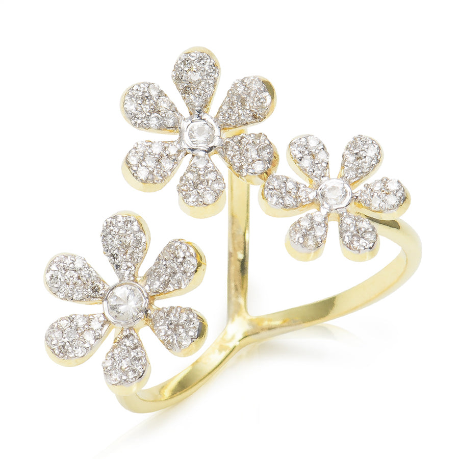 Camelia Diamond Ring Yellow Gold