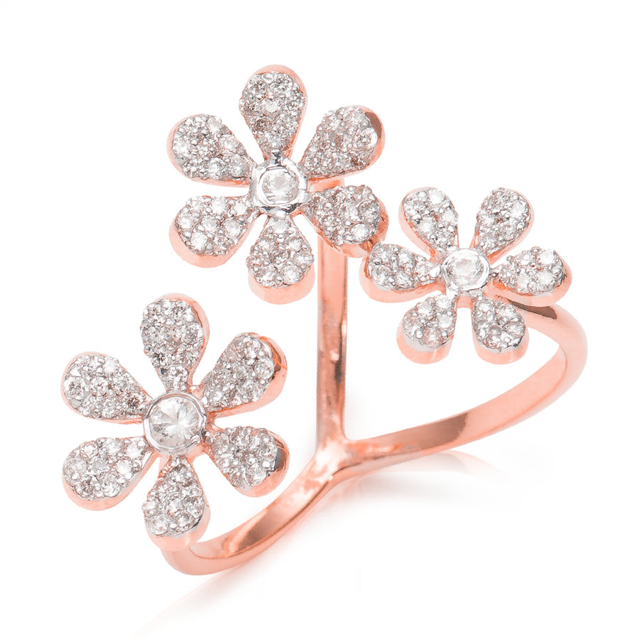 Camelia Diamond Ring Rosé Gold
