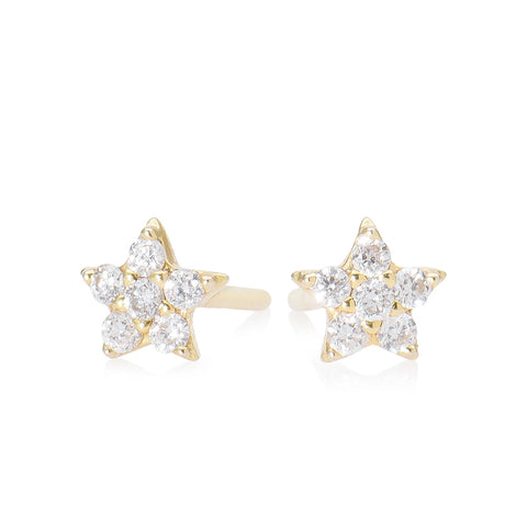 Lajoux Diamond Star Earring Yellow Gold