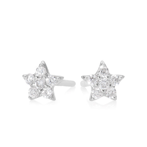 Lajoux Diamond Star Earring White Gold