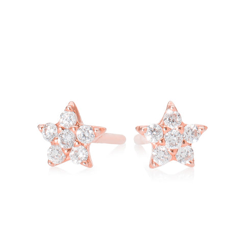 Lajoux Diamond Star Earring Rose Gold