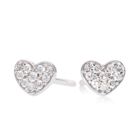 Lajoux Diamond Heart Earring small White Gold