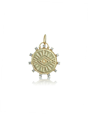Diamond Protective Eye Pendant
