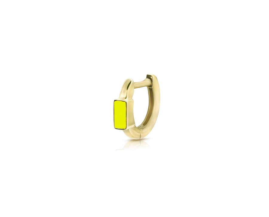 Light Enamel Huggie Yellow