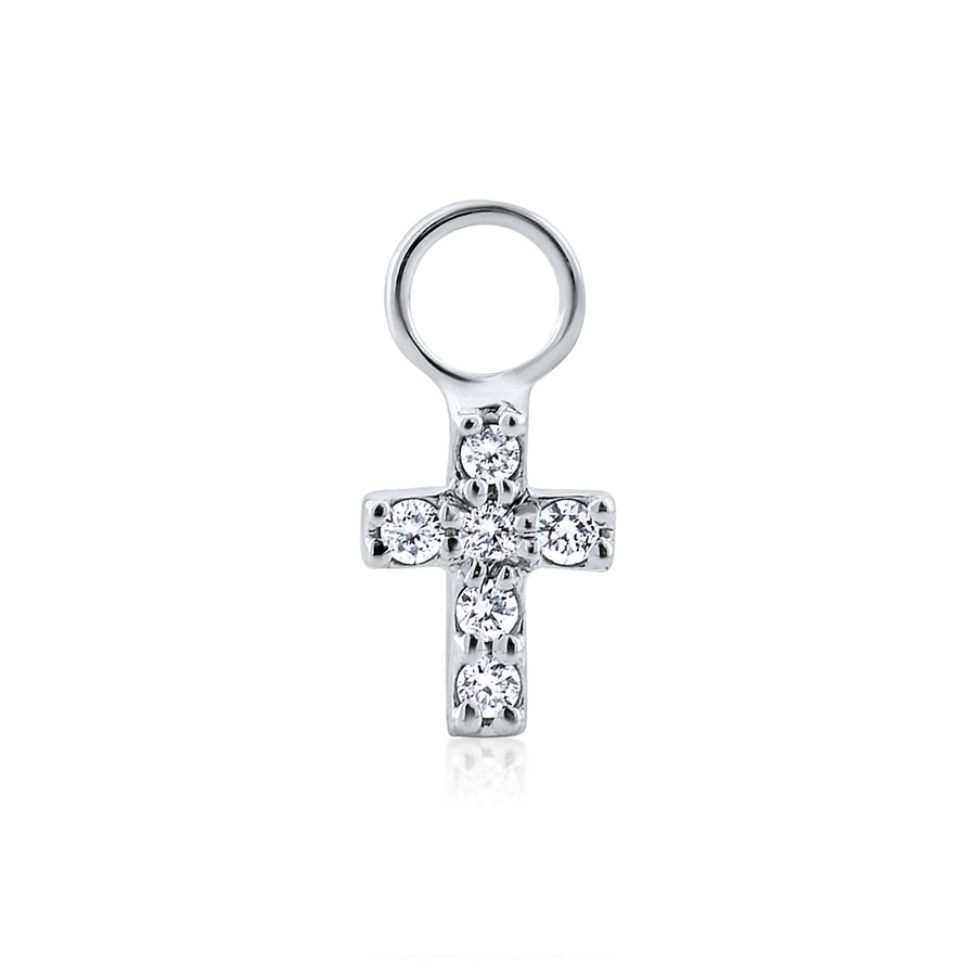 Diamond Cross Charm 14kt Gold