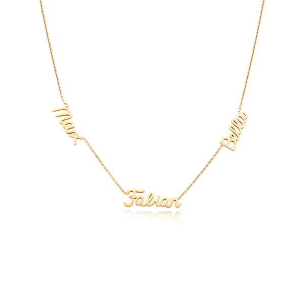 Scripted Gold Name Necklace