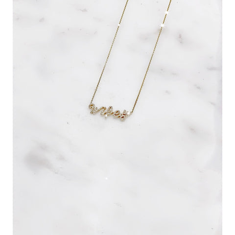 Wifey Necklace Diamonds 14kt Gold