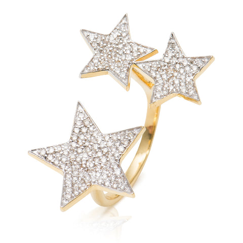 Diamond Star Ring 14KT Gold