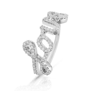 Lajoux Diamond Love Ring White Gold