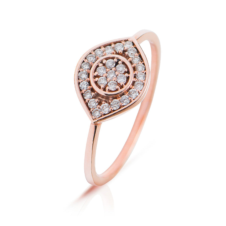 Eye See You Diamond Ring Rosé Gold