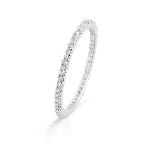Lajoux Eternity Diamond Ring White Gold