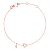 Lajoux Kids Bella Heart Bracelet Pleated Rosé Gold