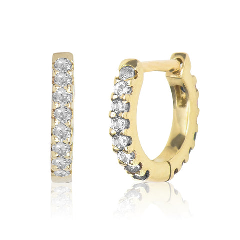 Diamond Eternity Huggie Yellow Gold S