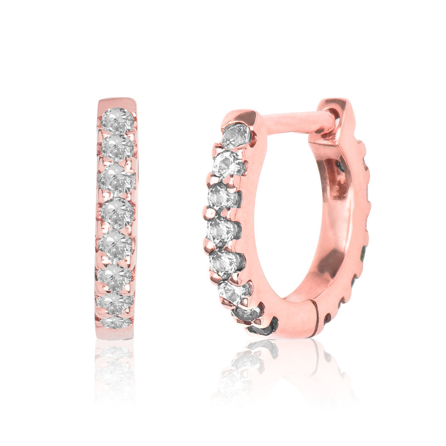 Diamond Eternity Huggie Rose Gold S
