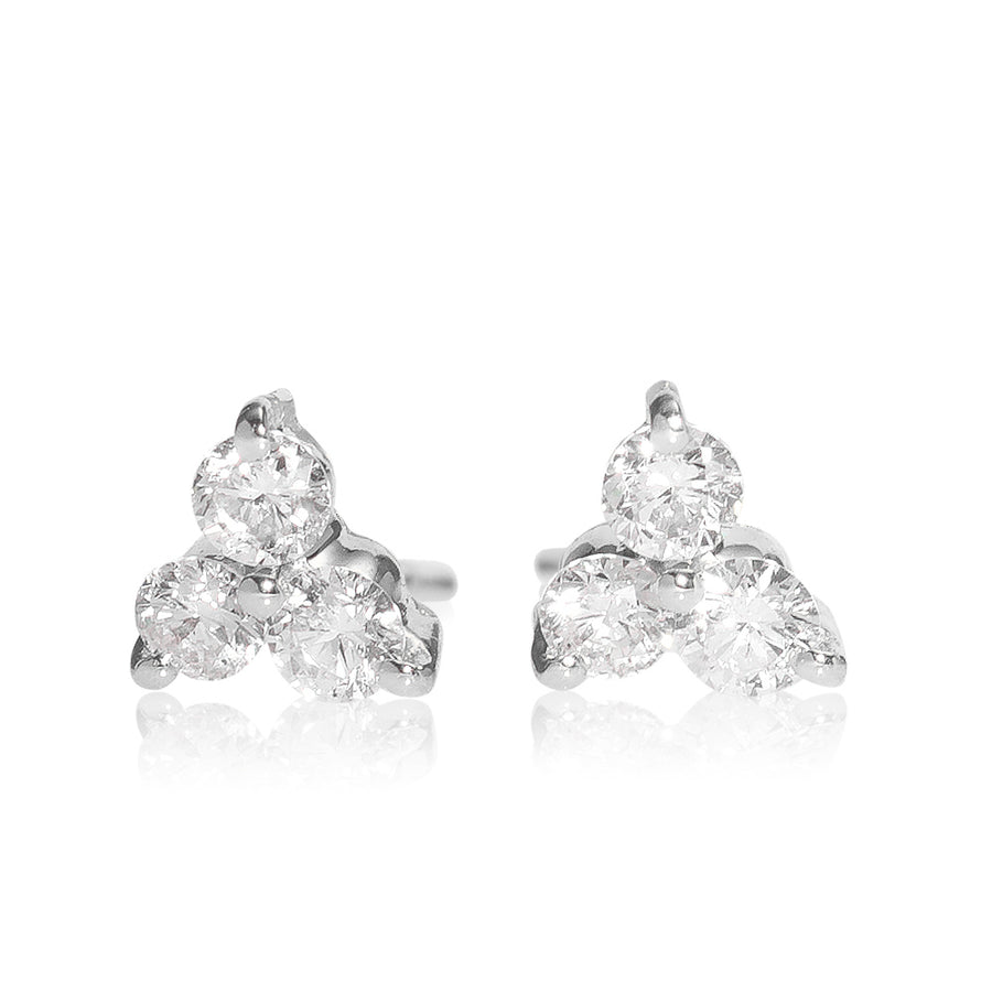 Trio-Diamond Earring