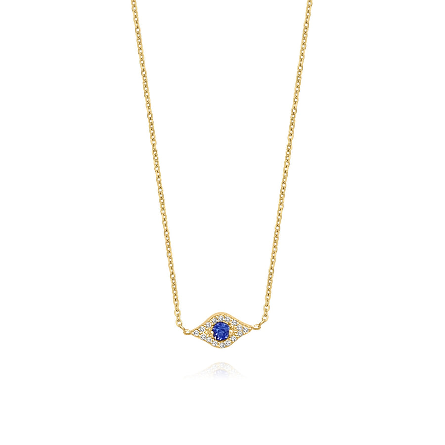 Protective Diamond Eye Necklace