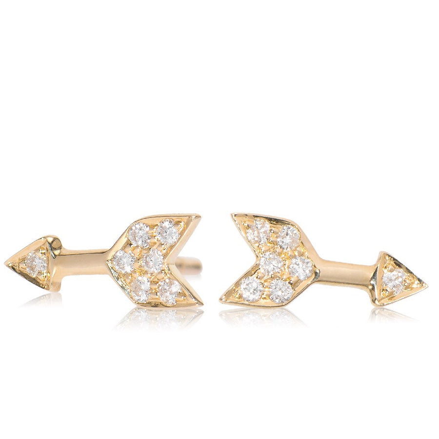 Diamond Arrow Earring Yellow Gold